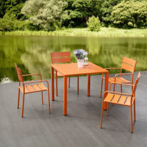 Support Many People Employ Outdoor Furniture Hot Spring Area Aluminium Alloy Table and Chair pictures & photos