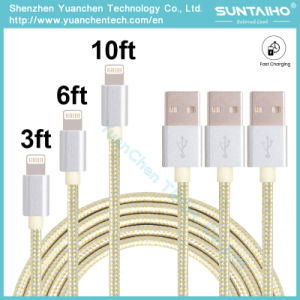 Factory Price USB 2.0 to Micro USB Fabric Braided Charging Cable pictures & photos