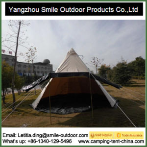 New Design Construction Event Windproof Cotton Canvas Teepee Tent pictures & photos