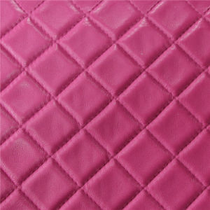 1.4mm Grid Pattern PVC Leather for Handbags (3332) pictures & photos