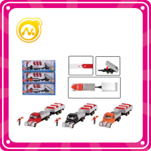 High Quality Trailer Taxied Alloy Goods Van Transporter Toy