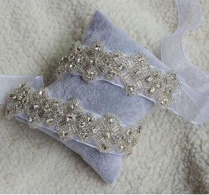 Handmade Sparking Brooch Organza or Satin Ribbon Band Wedding Bridal Belt pictures & photos
