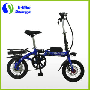 Factory Price 14 Inch Single Speed Electric Folding Bike pictures & photos