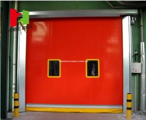 China Factory Self-Repair Roll-up High Speed Industrial Auto Recovery Clean Room Door (Hz-FC02560) pictures & photos