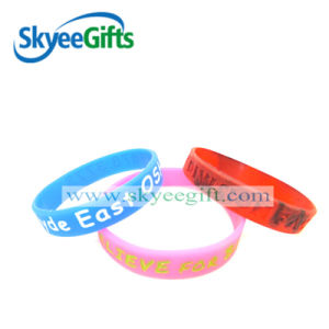 Customized Debossed Silicone Wristband with Logo pictures & photos