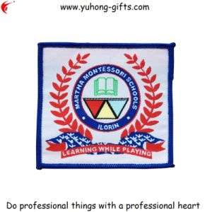 Customized Design College School Uniform Woven Patch (YH-WB063) pictures & photos
