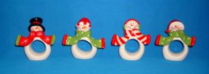 Hand-Painted Ceramic Snowmen Napkin Ring pictures & photos