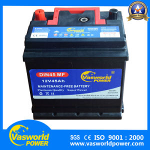 DIN Standerd Wholesale 12V 45ah Sealed Batteries Mf Batteries for Cars Bus Trunk pictures & photos