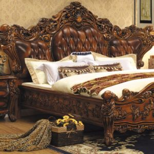 Wooden Bed for Bedroom Furniture Set (A05) pictures & photos