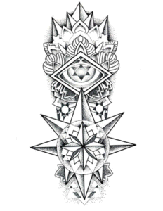 Fashion 3D Thorn Totem Temporary Tattoo Sticker Art Tattoo Sticker pictures & photos