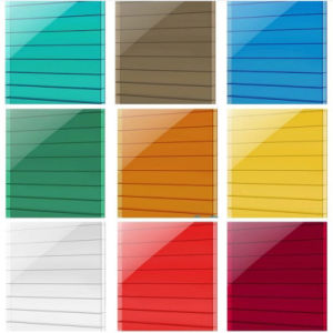 PC Soundproof Double Wall Lexan Colored Roofing Polycarbonate Sheet pictures & photos