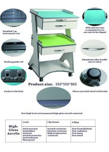 High-Gloss Acrylic Hospital Bedside Cabinet pictures & photos