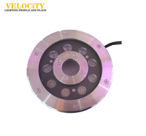 24V 6W/12W Remote Control Tricolor Stainless Steel IP68 LED Fountain Light pictures & photos