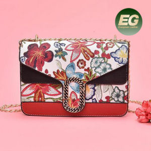 Popular Digital Flowers Printing Designer Messenger Bag Ladies Custom Logo Shoulder Bag Sy8419 pictures & photos