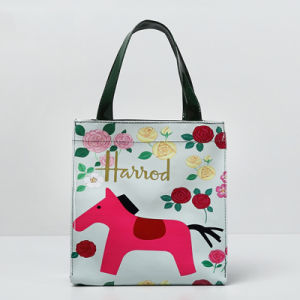 Small Size Red Horse Pattern Canvas Shoulder Bag (H008-10) pictures & photos