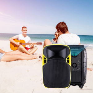 Competitive 12 Inches Plastic LED Projection Active Speaker with Multi-Function pictures & photos