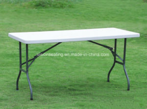 Plastic Folding Rectangle Banquet Wedding Party Outdoor Table (5301) pictures & photos