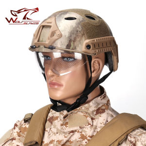 Tactical Helmet Military Pj Safety Helmet with Clear Visor for Outdoor Wargame pictures & photos