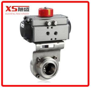 Stainless Steel Sanitary Aluminum Actuator Butterfly Valve pictures & photos