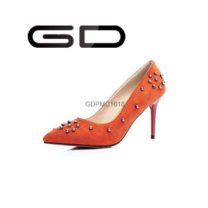 Manufacture Supply Suede Leather Women High Heel Shoes pictures & photos
