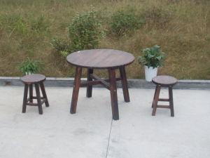 Popular Outdoor Garden Patio Burnt Cedar Wood Unfolded Chair pictures & photos