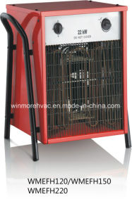 Industrial Fan Heater 22kw Portable Fan Heater Adjustable Thermostat Control pictures & photos