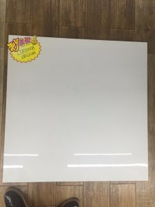Pure White Glazed Polished Tile 800*800 600*600 pictures & photos
