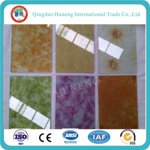 Color /Tinted Silk Laminated Glass for Decorative Glass pictures & photos