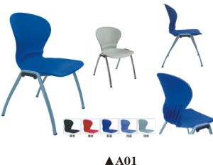 Popular Plastic Training Chair with Writing Board and Bookcase pictures & photos