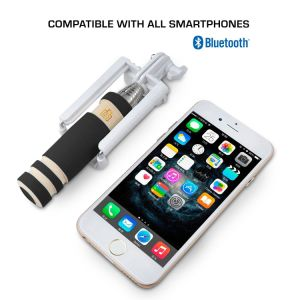 Self Portrait Monopod with Cell Phone Clamp Bluetooth Selfie Stick pictures & photos
