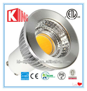 Aluminum Dimmable ETL GU10 Es COB 5W 7W LED Spotlights pictures & photos