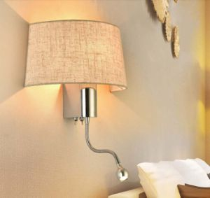 Half Fabric Shade LED Sconce Wall Light Lighting pictures & photos