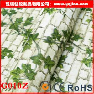Green Vine Self-Adhesive Brick Wall Wallpaper pictures & photos