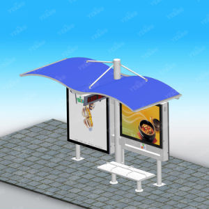 Street Furniture High Quality Stainless Steel Bus Stop Advertising pictures & photos