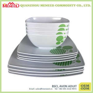 Factory Directly Price Top Grade Custom Print Square Dinner Set pictures & photos