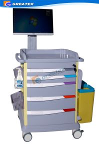 Luxurious Wireless Nursing Trolley, Doctor Laptop Cart (GT-ENT3701) pictures & photos