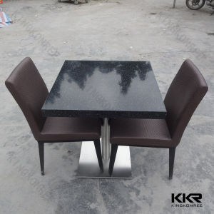 Popular Black Shinny 4 Person Coffee Table for Restaurant pictures & photos