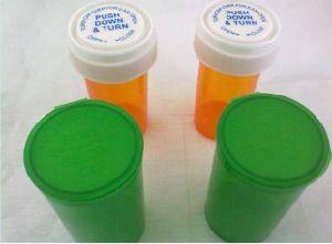 Screw Twist Top Doob Pill Rx Prescription Bottle Plastic Reversible Vials pictures & photos