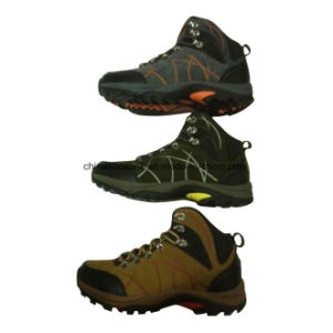 Hot Men′s Leather Hiking Trekking Shoes pictures & photos