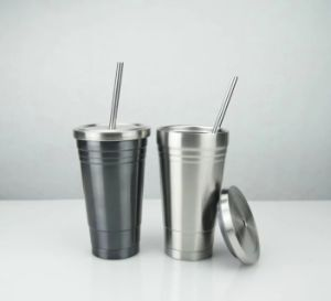 Hot Simple Straight Stainless Steel Travel Straw Mug pictures & photos
