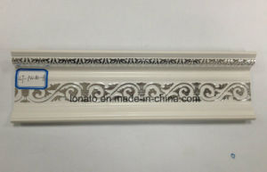 PVC Wall Decoration Cornice with Hot Stamping Foil Moulding pictures & photos
