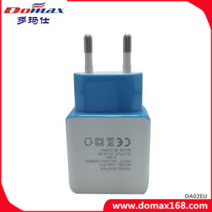 Mobile Phone EU Plug 2 USB Adapter Travel Charger pictures & photos