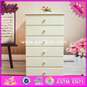 2016 Wholesale Bedroom Wood Cabinets, High Quality White Wood Cabinets, Best Design 6 Drawers Wood Cabinets W08h065 pictures & photos