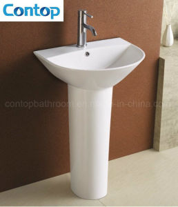 Bathroom Wash Sink with Pedestal Hand Basin pictures & photos