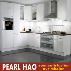 L Style White Melamine MDF Wood Kitchen Cabinets pictures & photos