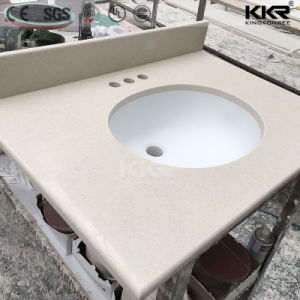 Modern Artificial Stone Solid Surface Bathroom Vanity pictures & photos