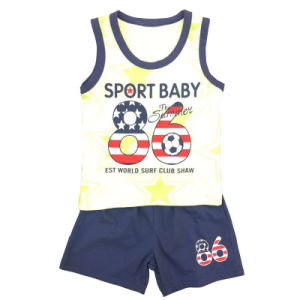 Kids Boy Sleeveless T-Shirt Suit pictures & photos