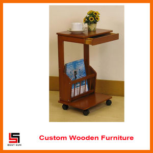 Mail Order Wood End Table with Magazine Shelf pictures & photos