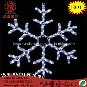 LED Hanging Snowflake Warm White Xmas Lights Motif Light Christmas Decoration pictures & photos