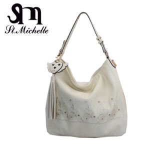 Tow Color PU Handbag for Woman pictures & photos